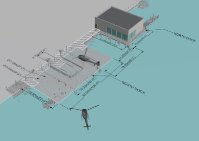 3D scanning and helicopter landing dock solution